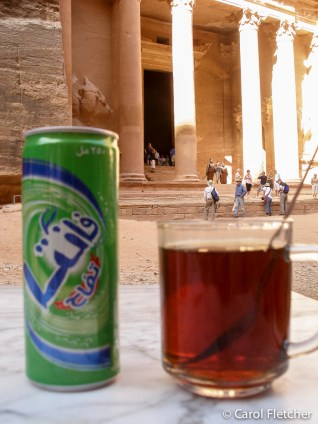 Fanta and Mint Tea at the Treasury