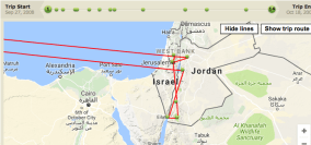 Our route through Jordan and Jerusalem