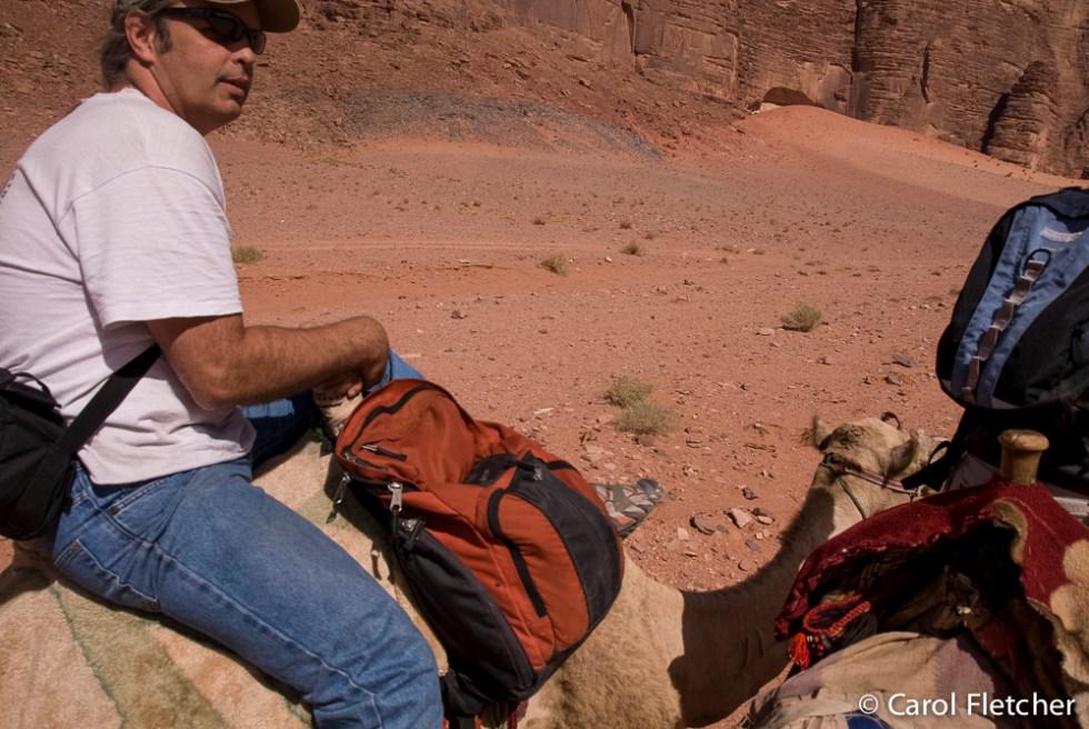 Bryan on a camel