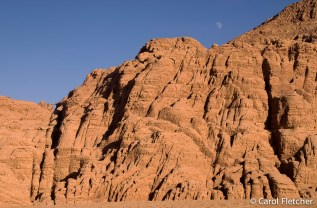The moon in Wadi Rum