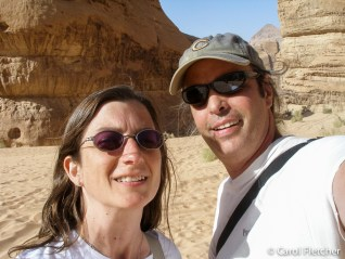 Us in Burrah Canyon, Wadi Rum