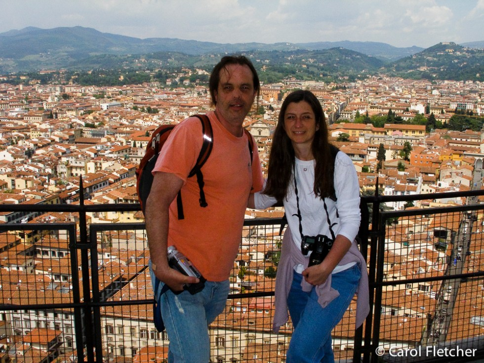 Carol and Bryan at the top of Duomo