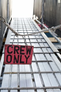 HMS Bounty crew only sign
