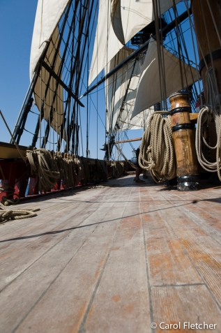 The deck of the Bounty