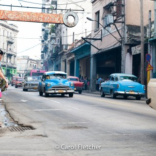 Havana cuba street neon sign advertising cars pre revolution