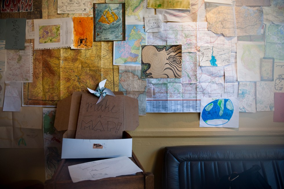 Make a Map:  Things to do in the coffee shop