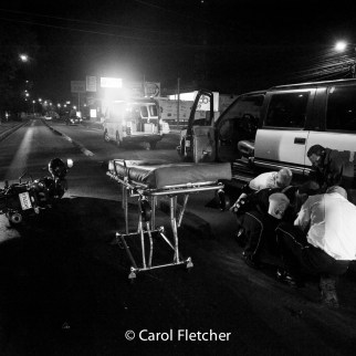 motorcycle accident guatemala stretcher bomberos ambulance