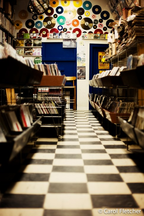 record store vinyl records checkerboard