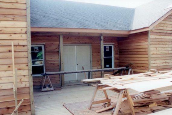 Duck United Methodist Church building siding project