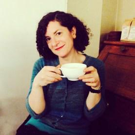 Kathryn with tea