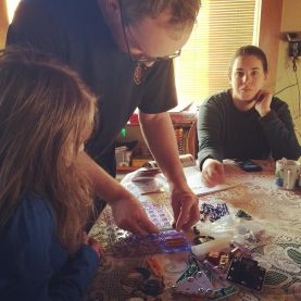 Uncle J helping out with Snap Circuits