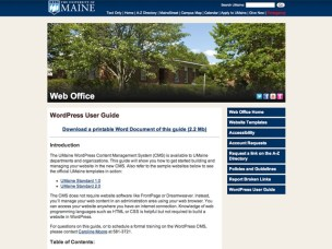 University of Maine Standard Blog Template 2.0