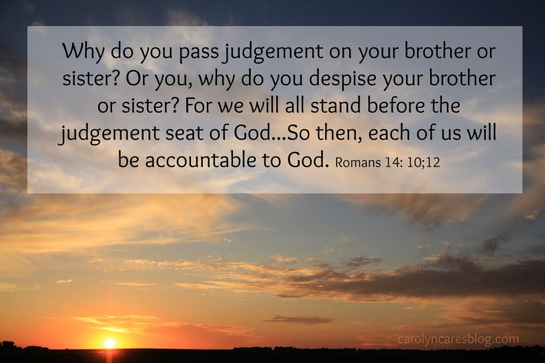 Why do you pass judgement