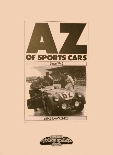 A-Z of Sports Cars, Bay View Book, 1991