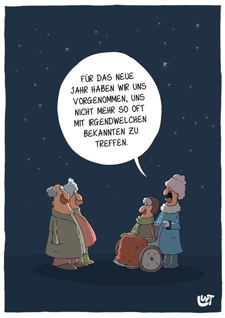 Thomas Luft, Cartoon, lustig, Vorsätze