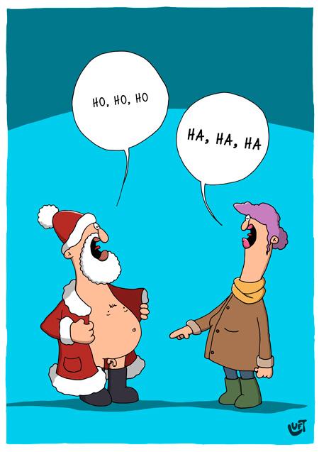Thomas Luft, Cartoon, lustig, kleiner Weihnachtsmann