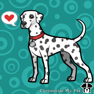 Cute Cartoon Dalmatian
