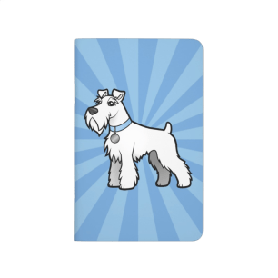 Cartoon White Schnauzer Journal