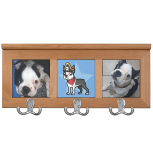 Add your own pictures boston terrier coat rack