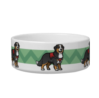 Bernese mountain dog pet bowl