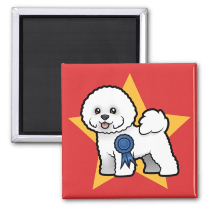 Best in show Bichon Frise fridge magent