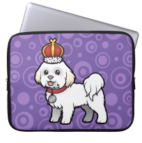 Bichon Frise owner laptop bag