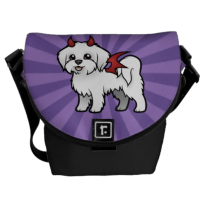 Naughty Devil Maltese Mini Messenger Bag