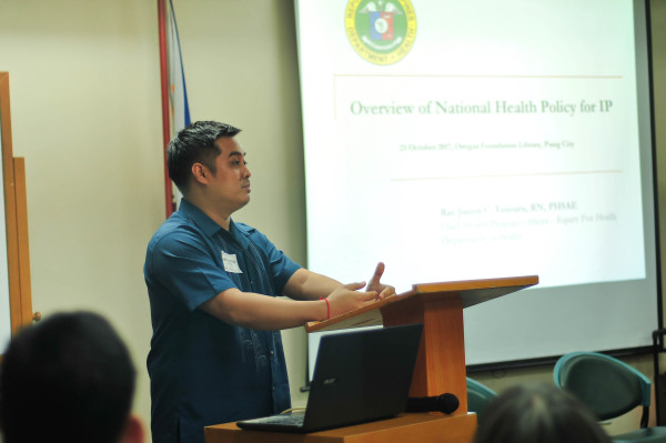 Ray Justin Ventura of the Bureau of Local Health Systems and Development shares about the gains and gaps of current government health policies specific to IPs