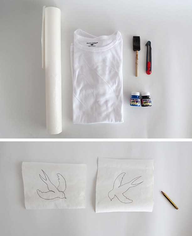 Návod, jak si vyrobit originální malované tričko_krok 1