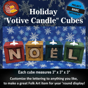 Holiday Votive Candle Cubes