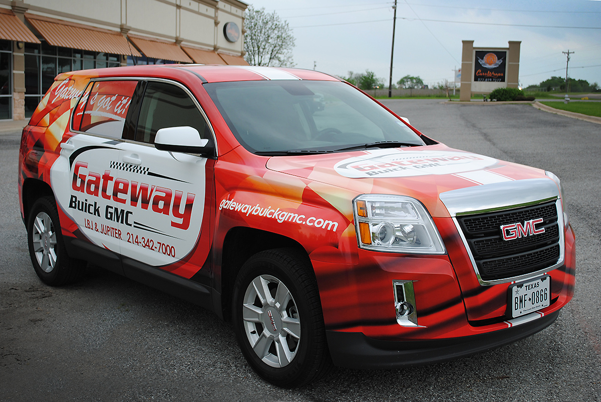 Gateway Buick GMC  SUV Full Wrap   Car Wrap City GMC full printed wrap