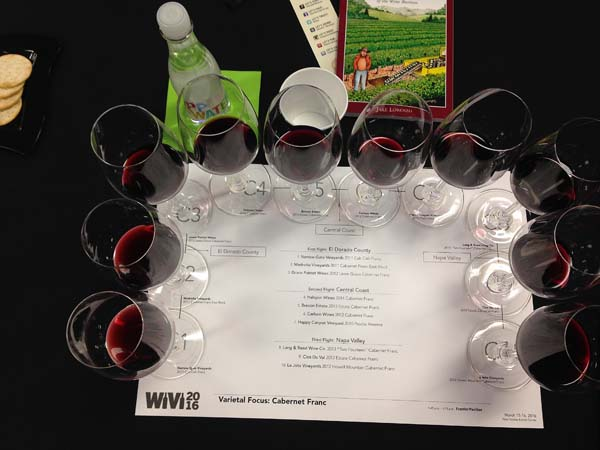 This year's varietal focus at WiVi Central Coast was Cabernet Franc