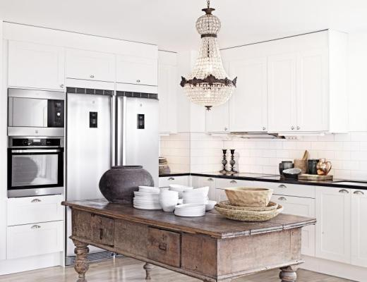 6 gorgeous glam farmhouse kitchens / 6 hermosas cocinas con estilo rústico chic // casahaus.net