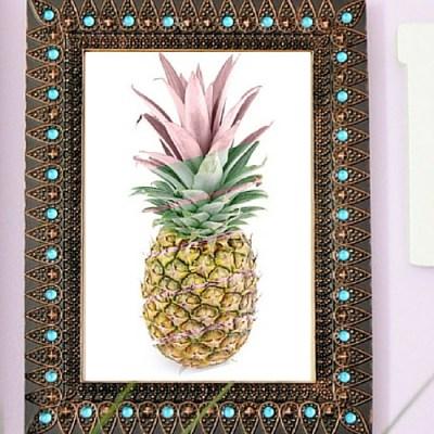 Graphic Pineapple Printable Art