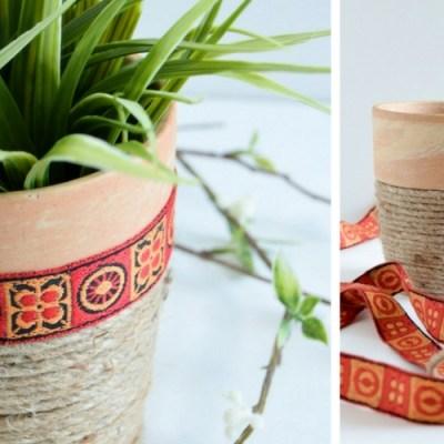 DIY African Inspired Jute Planter
