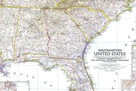 map 1947 southeastern united states national geographic