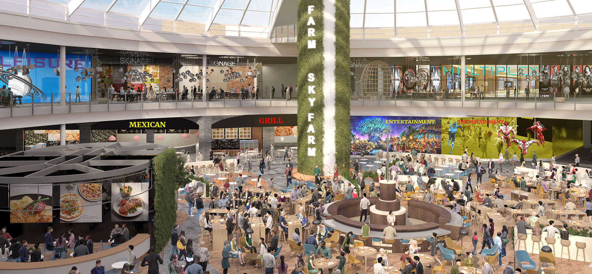 Food Hub, entertainment and wellness - Caselle Open Mall