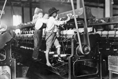 Boys Working in Georgia Cotton Mill