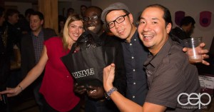From L-R, @AmandaBlake9, myself with the GOTSTYLE prize pack, @michaelkim, @fastdrvr