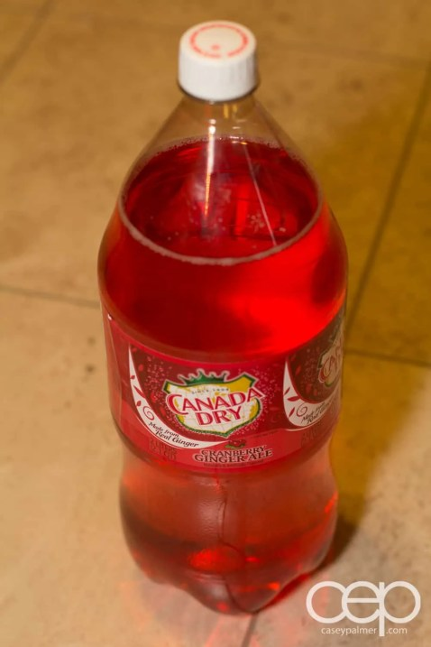A bottle of Cranberry Ginger Ale bought at TOPS in Buffalo, NY.