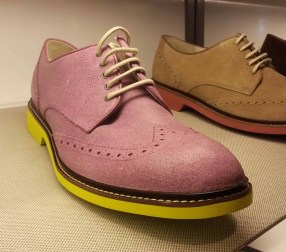 Pink and neon green oxfords from Cole Haan.