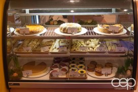 The dessert counter at the Karelia Kitchen