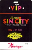 Bloggers in Sin City — VIP Lanyard