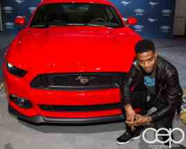 #FordNAIAS 2014 — Day 2 — Cobo Hall — Behind the Blue Oval — Need for Speed Screening — Scott Mescudi (aka Kid Cudi) and the 2014 Ford Mustang