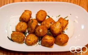 Team Trolling Does Pizzeria Libretto — Ricotta Gnocchi Fritti — house-made crema fresca, lemon, chives, rosemary