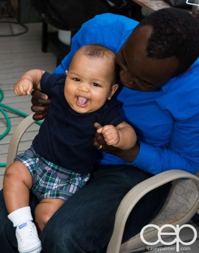 Palmer Family Pics — Casey Gets a HUGE Smile From His Son