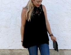 GF Black Lace Top