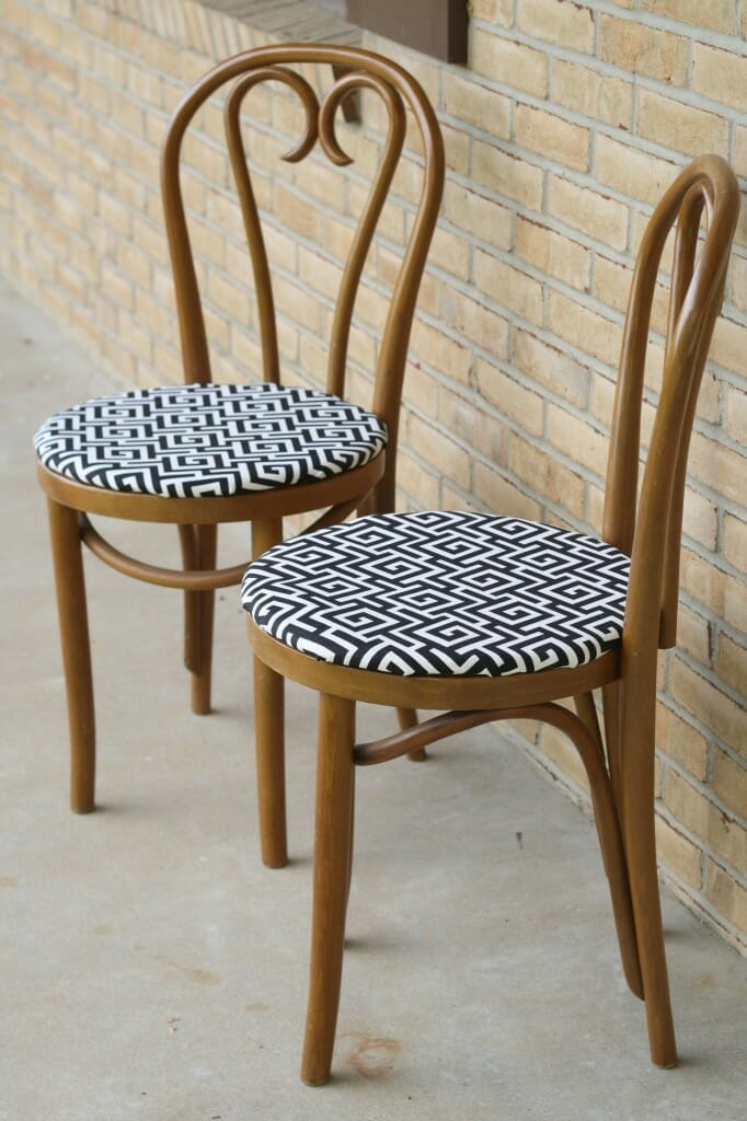 bentwood chairs with new upholstered seats