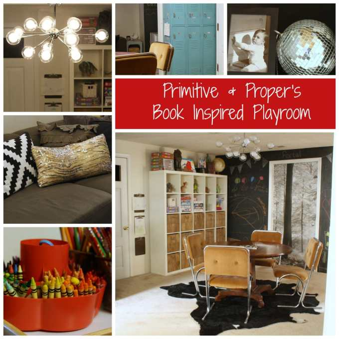 eclectic book inspired playroom
