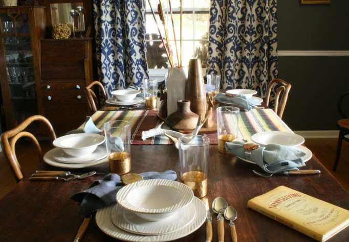 thanksgiving table set by relish decor